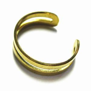 5594-『指輪パーツ』 リング オープン型 金色 5mm巾 10個/1セット|hellospace