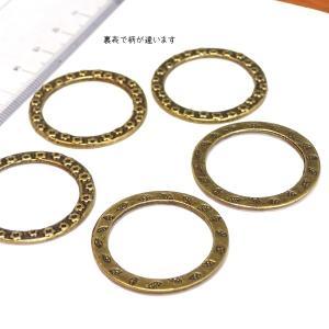 5800-《輪パーツ》 リングパーツ 真鍮古美 31mm 5個/1パック|hellospace