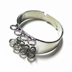 8168-『指輪パーツ』 8ループリング 銀色 9mm巾 2個/1セット|hellospace