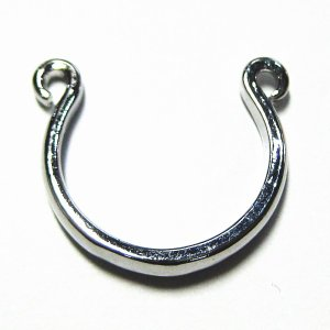 8450-『指輪パーツ』 リング オープン型 銀色 約19mm 1個|hellospace