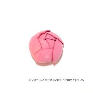 9489-『レザーフラワー』 ピンク 23mm 1個|hellospace