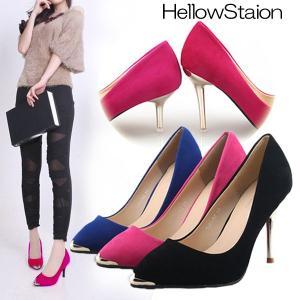 パンプス ヒール2type 6.5センチor9センチ 美脚 ピンヒール パンプス 靴 くつ シューズ 大きいサイズ 秋 フォーマル|hellowstation