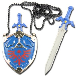 ゼルダの伝説 剣と盾 ブルー ネックレス グッズ