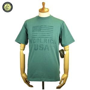 Woolrich ウールリッチ Tシャツ 8020 メンズ グラフィック ロゴ Tシャツ