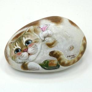 ヘンリーキャットGEアートストーン猫シリーズ【ブランデー】|henry-shop
