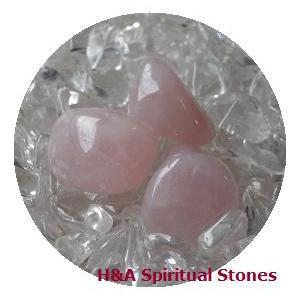 ローズクォーツ:(第4チャクラ)癒しのクリスタルワーク♪ヒーリングストーンタンブル型 Rose Quartz【メール便可】|herbalkstore