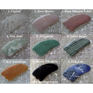選んでかっさセラピー「天使の羽根:天然石かっさLサイズ(9種類)」 【メール便可】|herbalkstore
