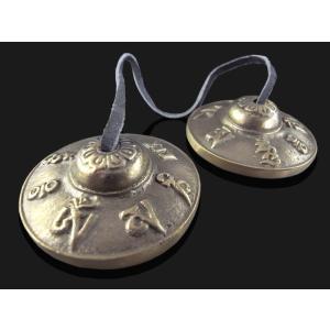 ティンシャ(チベットシンバル)マントラ・ドラゴン・絵文字 ネパール直輸入品 herbalkstore