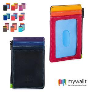 メール便対応 Yahoo!No.1のmywalit品揃え+ポイント5倍 mywalit カーフ レザー カードケース コインケース パスケース MY1206 秋冬|herbette
