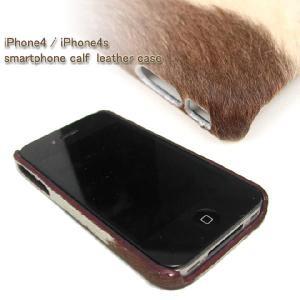 カーフレザー iPhoneケース i phone 4/i phone 4S アイフォン 秋冬|herbette