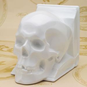 ヘレンド ブックエンド 送料無料 スカル 白磁 置物 飾り物 頭蓋骨 ハンドメイド ギフト包装無料|herend-met