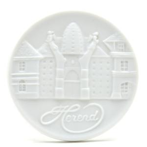 ヘレンドファクトリー 白磁艶消し メダル 工房正面図 ギフト包装無料 飾り物 オブジェ ハンガリー|herend-met