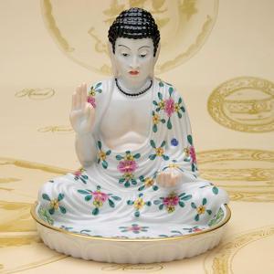 ヘレンド ハンドメイド 人形置物 仏陀 釈迦牟尼(トレー付き) 磁器製 飾り物 送料無料 ギフト包装無料|herend-met
