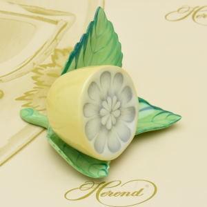 ヘレンド(Herend) カード用スタンド 葉の上の檸檬 ハンドメイド 磁器製 飾り物 ギフト包装無料|herend-met