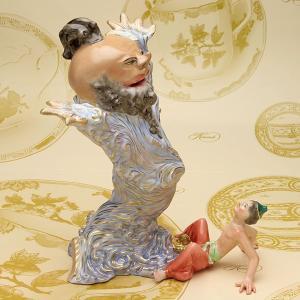 ヘレンド 人形置物 ハンドメイド アラジンとジェニー 魔法のランプ 磁器製 飾り物 ギフト包装無料|herend-met