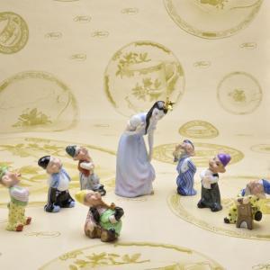 ヘレンド 人形置物 ハンドメイド 白雪姫と七人の小人 スノーホワイト 磁器製 飾り物 ギフト包装無料|herend-met
