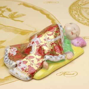 ヘレンド 人形置物 磁器製 飾り物 眠る日本の子供(CD-1) 送料無料 ハンドメイド ギフト包装無料 Herend|herend-met
