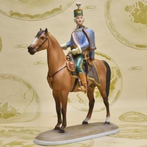 ヘレンド ハンドメイド 磁器製人形 騎馬団長 アンドレ・ハディク中将 置物 飾り物 送料無料 Herend|herend-met