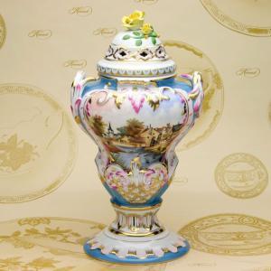 蓋付飾り壺 ヘレンド ハンドメイド マスターペインターのサイン入り 透かし彫り スペシャルピース 飾り物|herend-met