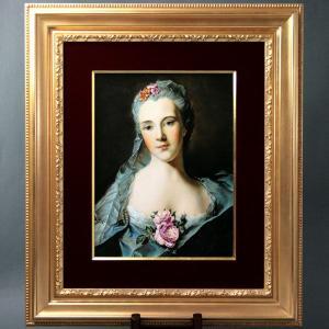 陶板画 世界総数25点の限定制作品 ヘレンド 薔薇の貴婦人 額装付き マスターペインターのサイン入り Herend|herend-met