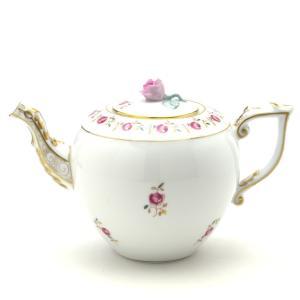 ティーポット(薔薇摘み) ヘレンド 薔薇の花飾り・シンプル 送料無料 ハンドメイド 洋食器 ギフト包装無料|herend-met