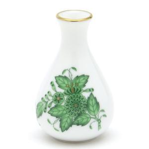 花瓶(ミニ) ヘレンド VASE(7194) アポニーグリーン ハンドペイント 一輪挿し 飾り物 ギフト包装無料|herend-met