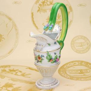 ジャグ(薄浮き彫り) ハンドメイド ヘレンド チューリップの花束 置物 スネークハンドル ギフト包装無料|herend-met