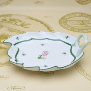 ヘレンドのウィーンの薔薇 葉形皿 リーフディッシュ(L) ハンドメイド テーブルウエア ギフト包装無料 Herend|herend-met
