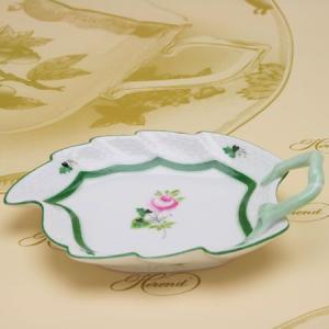 ヘレンドのウィーンの薔薇 葉形皿 テーブルウエア リーフディッシュ ハンドメイド ギフト包装無料 Herend|herend-met
