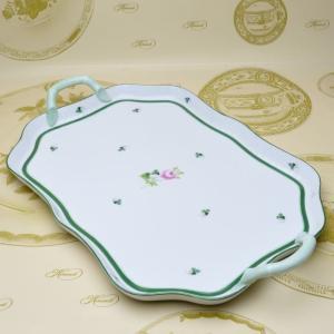 ヘレンド 洋食器 ウィーンの薔薇 持ち手付き大形トレイ ハンドメイド ハンドペイント 盆 送料無料|herend-met