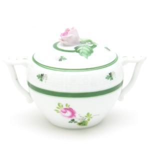 ヘレンド 洋食器 バラ蓋付きボックス ウィーンの薔薇 シュガーポット ハンドメイド 手描き|herend-met