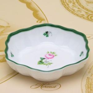 ヘレンドのウィーンの薔薇 洋食器 コンポート(六角皿) ハンドペイント フルーツ皿 ギフト包装無料 Herend|herend-met