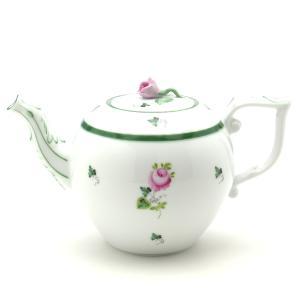 ティーポット(0605)薔薇 ヘレンド ウィーンの薔薇 洋食器 送料無料 ハンドメイド ギフト包装無料|herend-met
