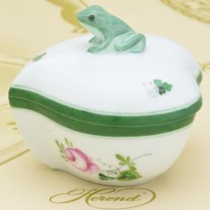 ボンボン入れ(雨蛙摘み) ハート形 ヘレンド ウィーンの薔薇 飾り物 ハンドメイド 小筐 ギフト包装無料|herend-met