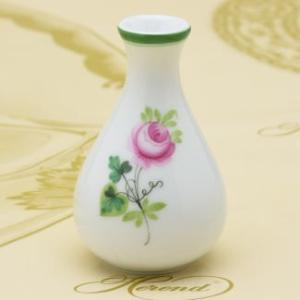 花瓶(ミニ) ウィーンの薔薇 飾り物 ヘレンド ハンドペイント 一輪挿し VASE(7194) ギフト包装無料 herend-met