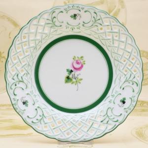 飾り皿 透かし彫り ハンドメイド ヘレンド ウィーンの薔薇 送料無料 ギフト包装無料 ハンガリー Herend|herend-met