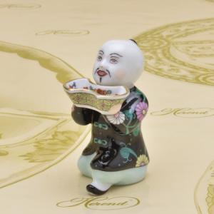 ヘレンド 人形置物 ハンドメイド お給仕マンダリン 西安の黒 飾り物 マスターペインターのサイン入り|herend-met