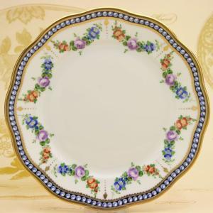 ヘレンド デザート皿 真珠の首飾り マスターペインターのサイン入り ハンドペイント 絵皿 洋食器 Herend|herend-met