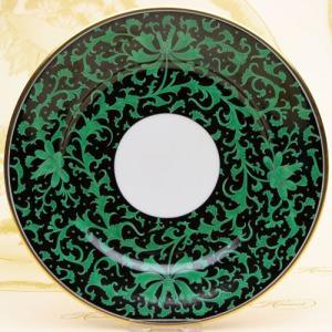 ヘレンド 絵皿 皇帝の牡丹 手描き 食器 デザート皿 マスターペインターのサイン入り Herend herend-met