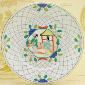ヘレンド 絵皿 中国の光景 手描き 食器 デザート皿 マスターペインターのサイン入り Herend herend-met