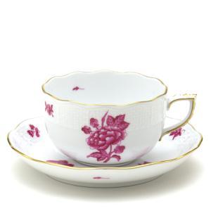 ヘレンド(Herend) ティーカップ 食器 ヴィクトリアの花と蝶/ピンク 磁器 紅茶カップ|herend-met