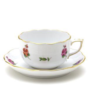 ヘレンド(Herend) ティーカップ 食器 パンジー 手描き 磁器 紅茶カップ&ソーサー|herend-met