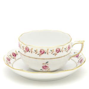 ヘレンド(Herend) ティーカップ 食器 薔薇の花飾り/シンプル 手描き 紅茶カップ|herend-met