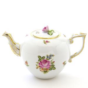 ヘレンド(Herend)食器 ティーポット 小さな薔薇の花束/ピンク ハンドメイド 手描き 磁器|herend-met