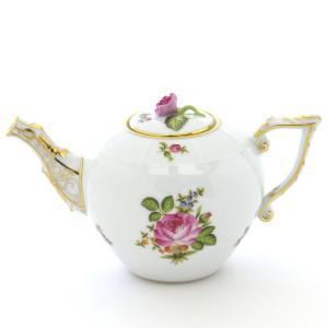 ヘレンド(Herend) ミニティーポット 小さな薔薇の花束 ハンドメイド 手描き 磁器 洋食器|herend-met