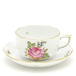 ヘレンド(Herend) ティーカップ 食器  小さな薔薇の花束/ピンク 手描き 紅茶カップ|herend-met