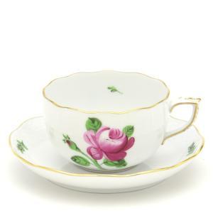 ヘレンド(Herend) ティーカップ 食器 薔薇と蕾 手描き 磁器製 紅茶カップ&ソーサー|herend-met