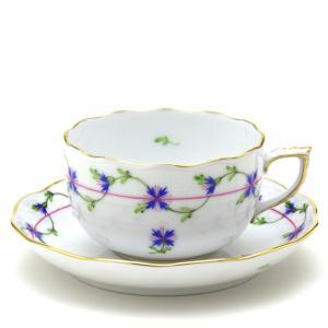 ヘレンド(Herend) ティーカップ 食器  小さな矢車菊の花飾り 手描き 磁器 紅茶カップ|herend-met