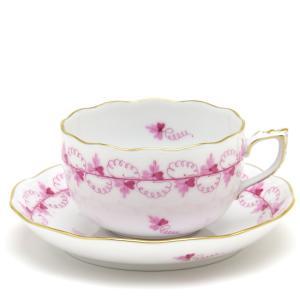 ヘレンド(Herend) ティーカップ 食器 パセリ/ピンク 手描き 紅茶カップ&ソーサー|herend-met