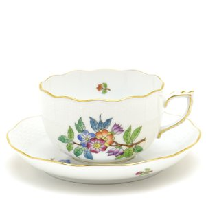 ヘレンド(Herend) ティーカップ 食器 ヴィクトリア/プレーン(2) 手描き 紅茶カップ|herend-met